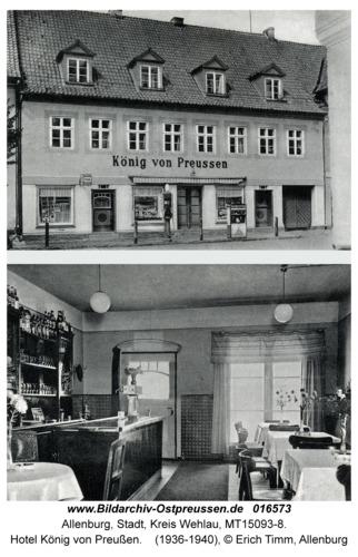 Allenburg, Hotel König von Preußen