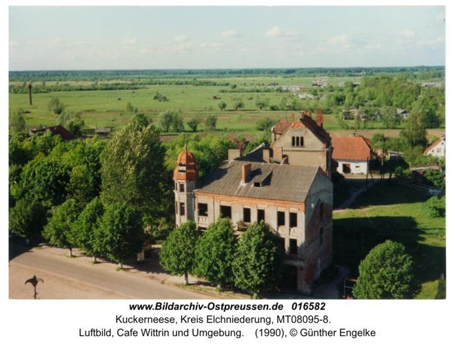 Kuckerneese, Luftbild, Cafe Wittrin und Umgebung