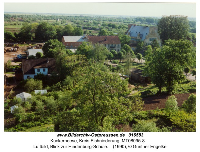 Kuckerneese, Luftbild, Blick zur Hindenburg-Schule