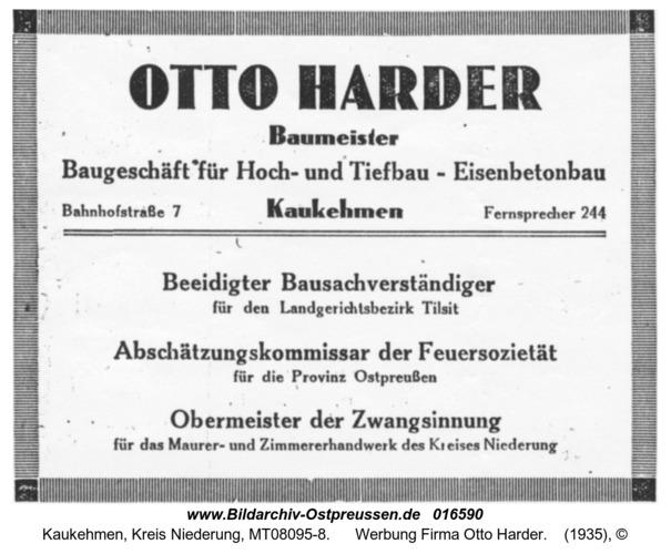 Kuckerneese, Werbung Firma Otto Harder