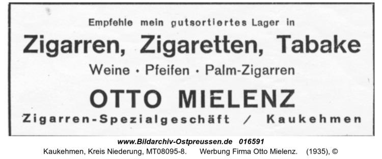 Kuckerneese, Werbung Firma Otto Mielenz