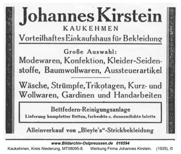 Kuckerneese, Werbung Firma Johannes Kirstein