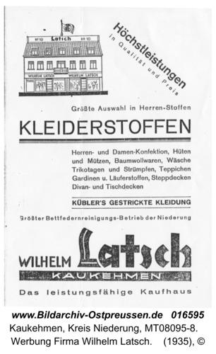 Kuckerneese, Werbung Firma Wilhelm Latsch
