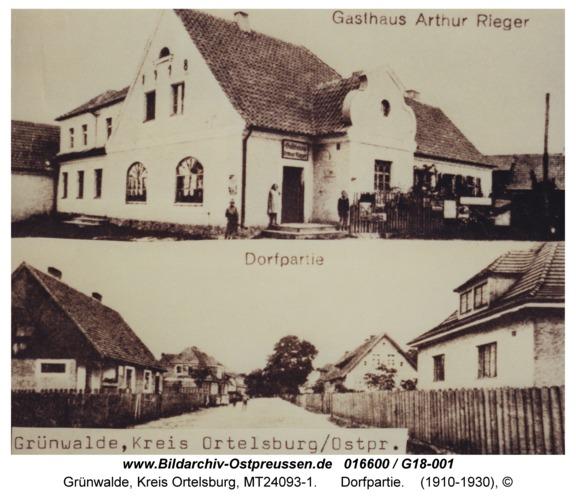 Grünwalde, Dorfpartie