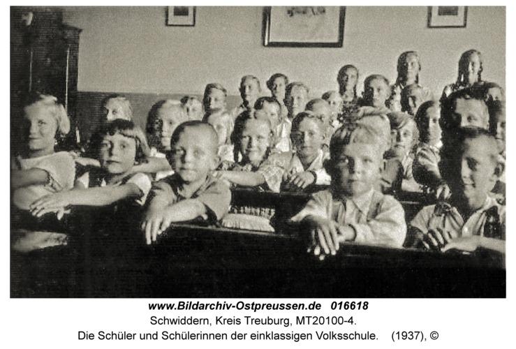 Schwiddern Kr. Treuburg, Die Schüler und Schülerinnen der einklassigen Volksschule