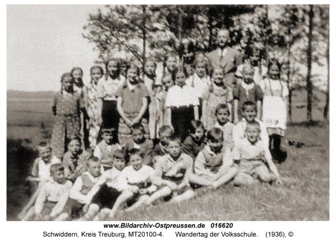 Schwiddern Kr. Treuburg, Wandertag der Volksschule