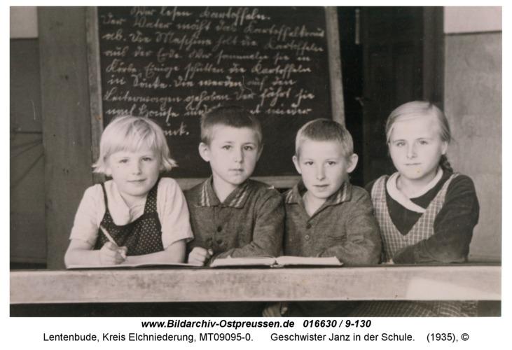 Lentenbude, Geschwister Janz in der Schule