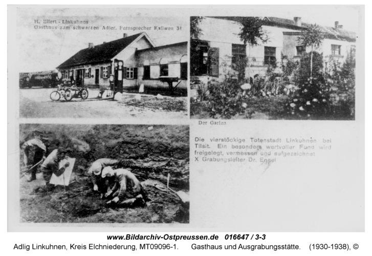 Adlig Linkuhnen, Gasthaus und Ausgrabungsstätte