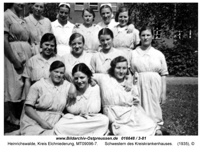 Heinrichswalde, Schwestern des Kreiskrankenhauses
