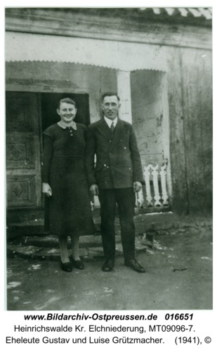 Heinrichswalde, Eheleute Gustav und Luise Grützmacher