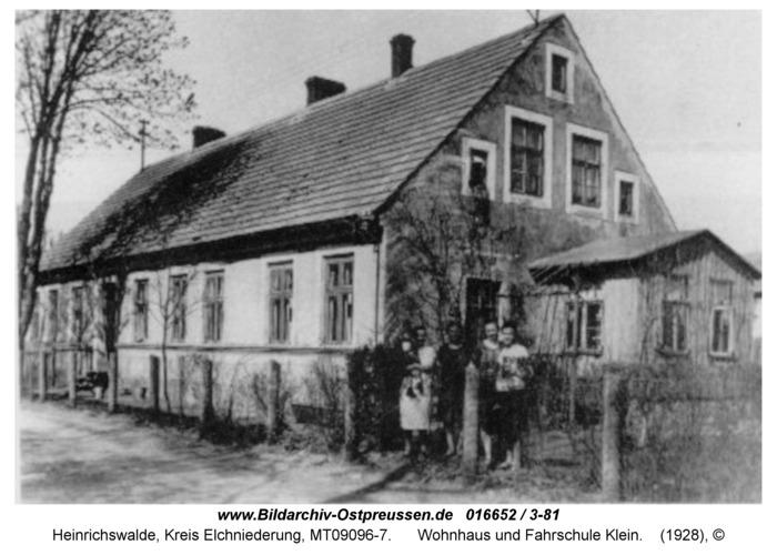 Heinrichswalde, Wohnhaus und Fahrschule Klein