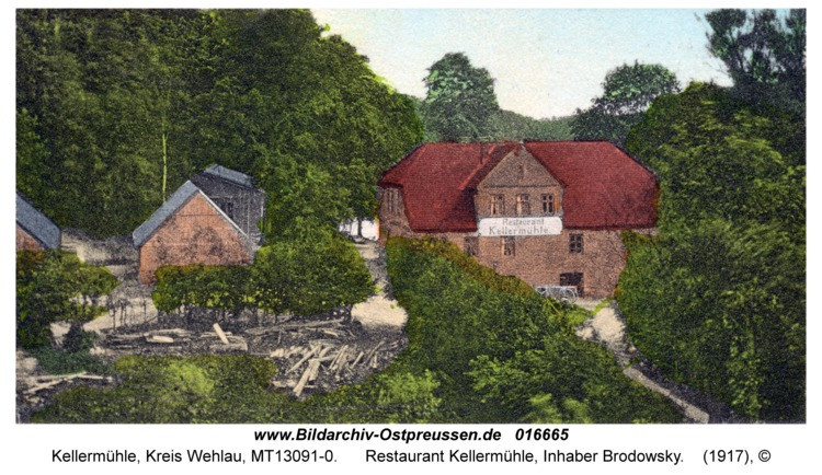 Kellermühle, Restaurant Kellermühle, Inhaber Brodowsky
