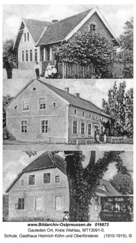 Gauleden, Schule, Gasthaus Heinrich Köhn und Oberförsterei
