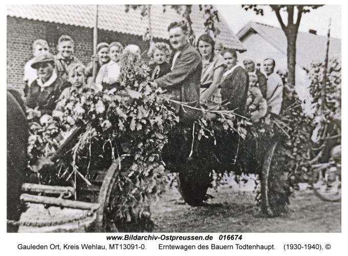 Gauleden, Erntewagen des Bauern Todtenhaupt
