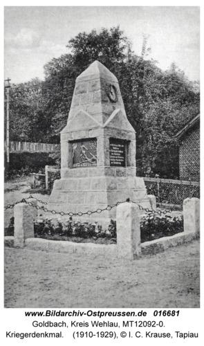 Goldbach Kr. Wehlau, Kriegerdenkmal