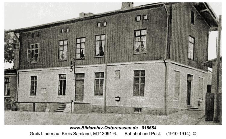 Groß Lindenau, Bahnhof und Post