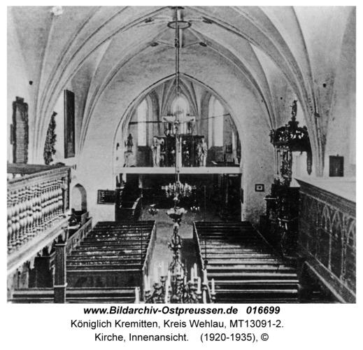 Königlich Kremitten, Kirche, Innenansicht