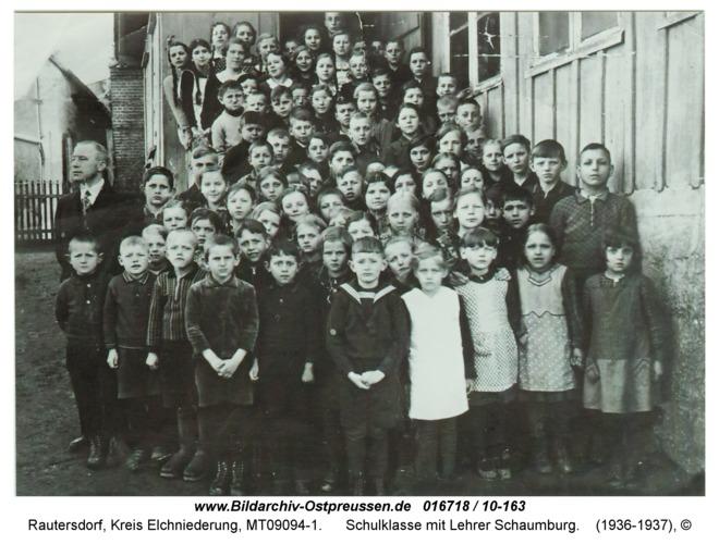 Rautersdorf, Schulklasse mit Lehrer Schaumburg