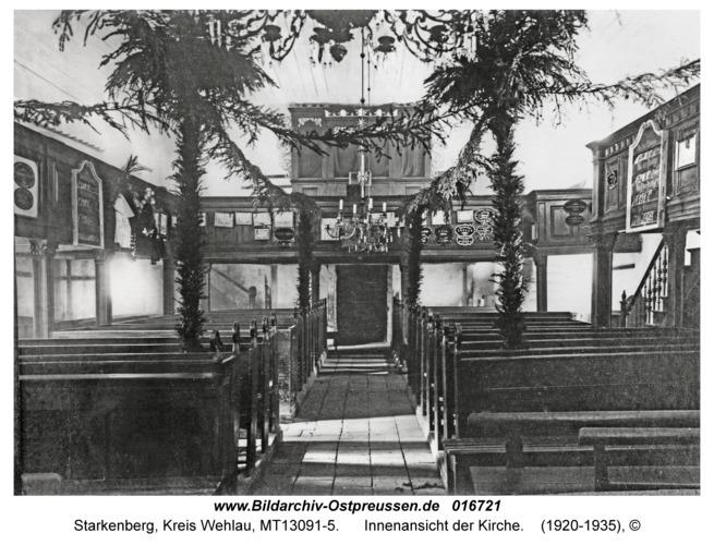 Starkenberg, Innenansicht der Kirche