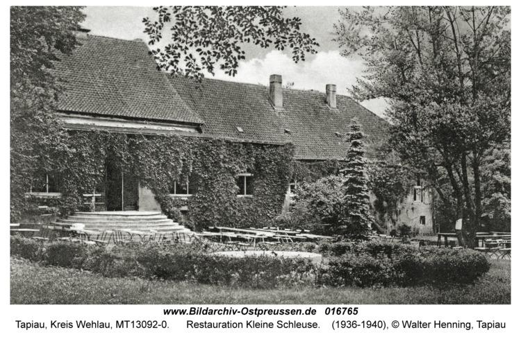 Tapiau, Restauration Kleine Schleuse