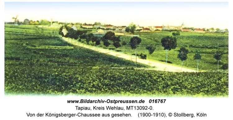 Tapiau, von der Königsberger-Chaussee aus gesehen