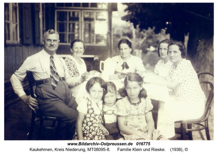 Kuckerneese, Familie Klein und Rieske