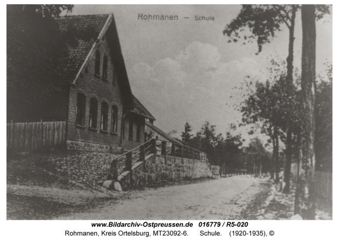Rohmanen, Schule
