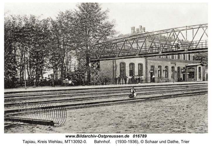 Tapiau, Bahnhof