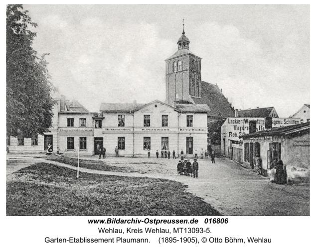 Wehlau, Garten-Etablissement Plaumann