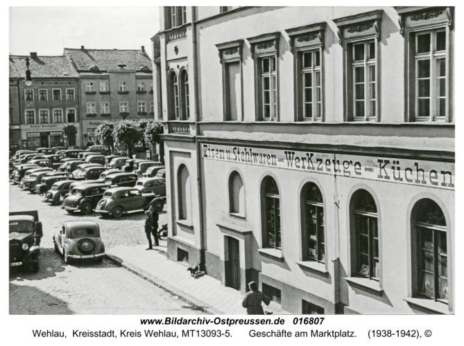 Wehlau, Geschäfte am Marktplatz