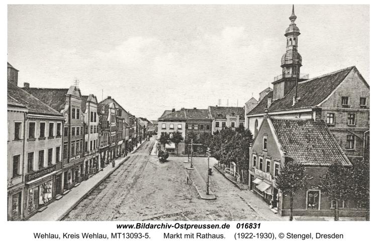 Wehlau, Markt mit Rathaus