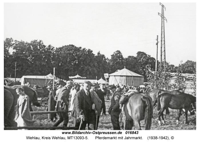 Wehlau, Pferdemarkt mit Jahrmarkt