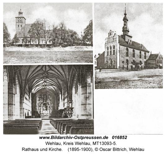 Wehlau, Rathaus und Kirche