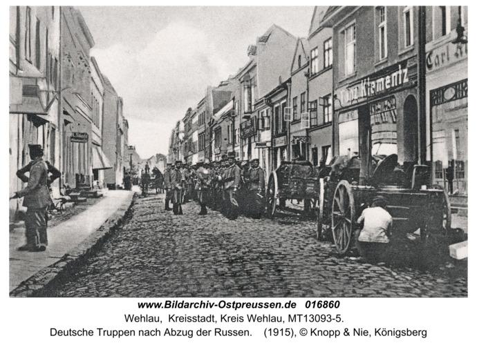 Wehlau, Deutsche Truppen nach Abzug der Russen