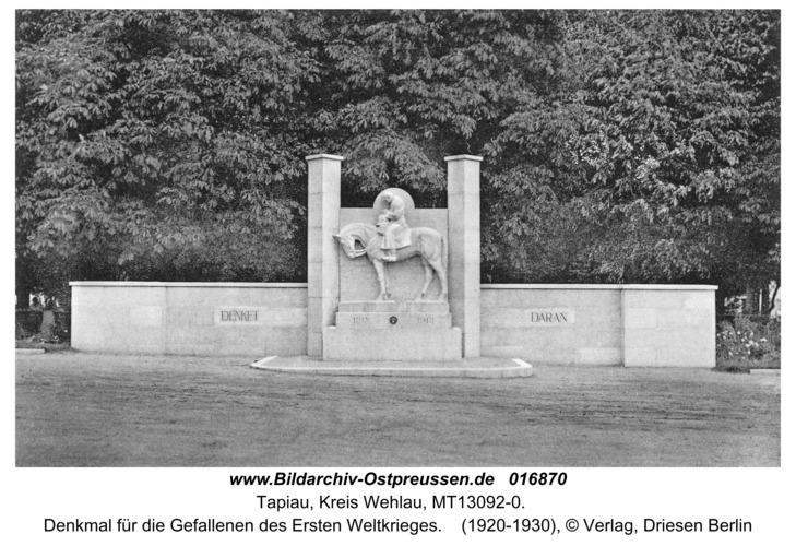 Tapiau, Denkmal für die Gefallenen des Ersten Weltkrieges