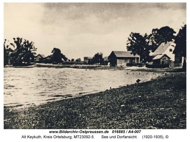 Alt Keykuth, See und Dorfansicht