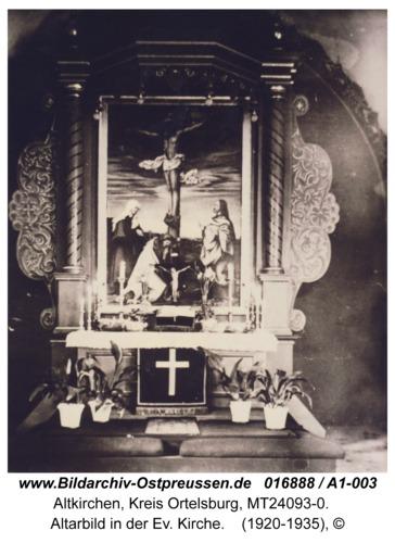 Altkirchen, Altarbild in der Ev. Kirche