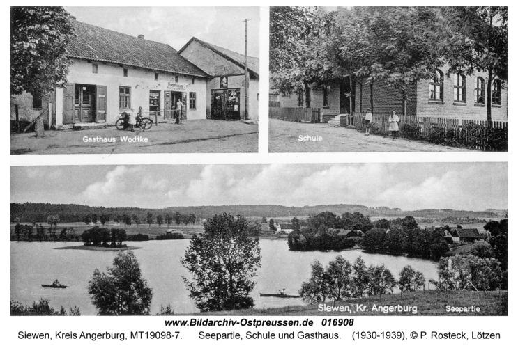 Siewen, Seepartie, Schule und Gasthaus