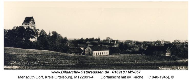 Mensguth, Dorfansicht mit ev. Kirche