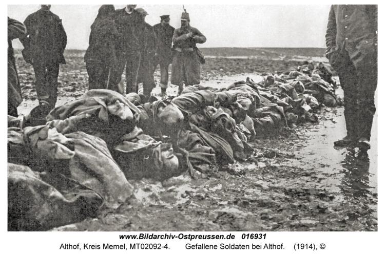 Althof Kr. Memel, Gefallene Soldaten bei Althof
