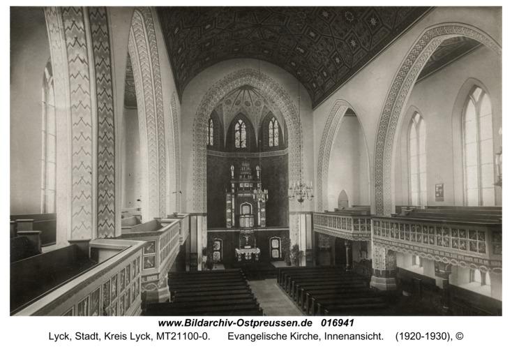 Lyck, Evangelische Kirche, Innenansicht