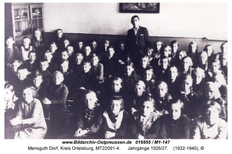 Mensguth Schulklasse, Jahrgänge 1926/27