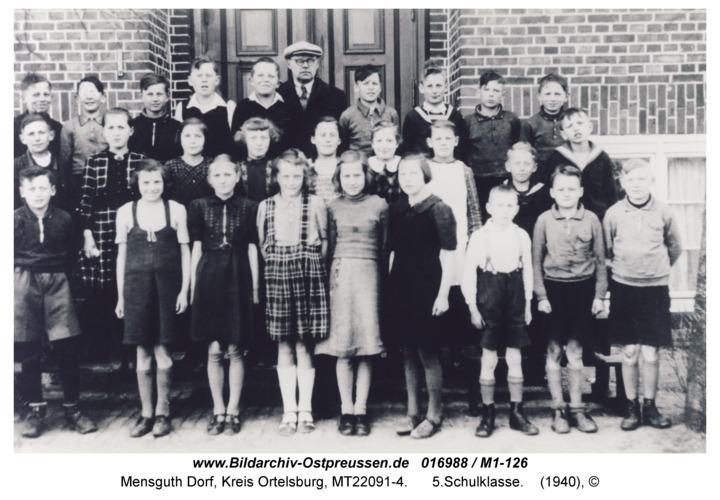 Mensguth, 5.Schulklasse