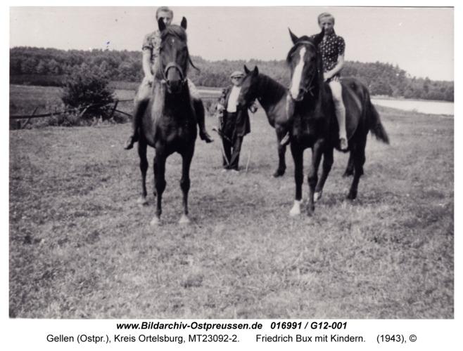 Gellen, Friedrich Bux mit Kindern