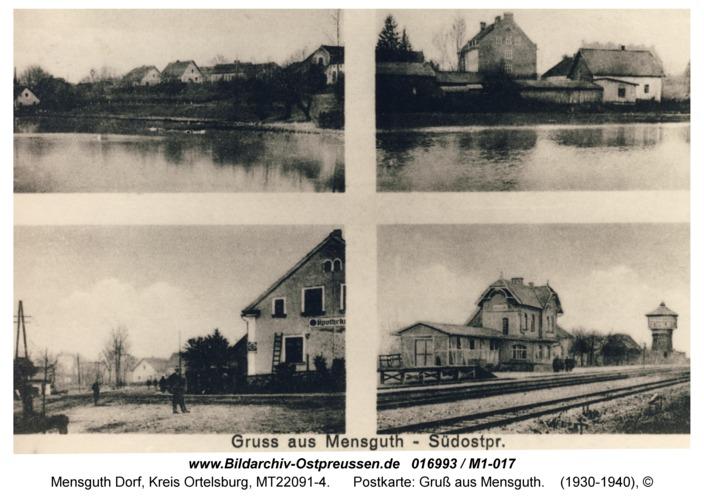 Mensguth, Postkarte: Gruß aus Mensguth