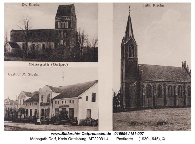 Mensguth, Postkarte