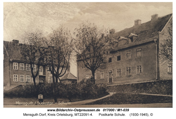 Mensguth, Postkarte Schule