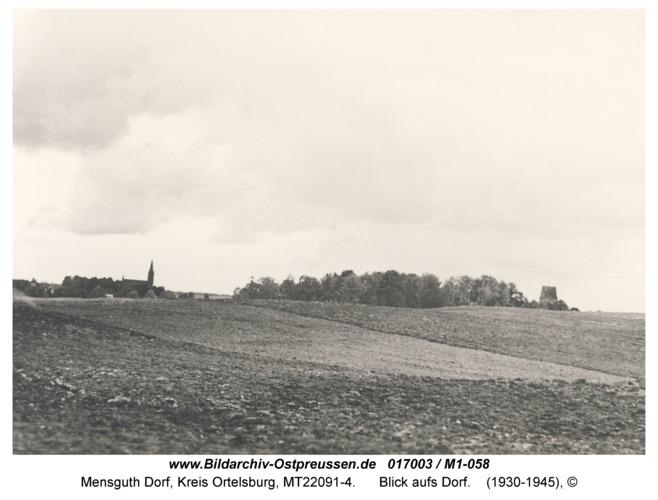 Mensguth, Blick aufs Dorf