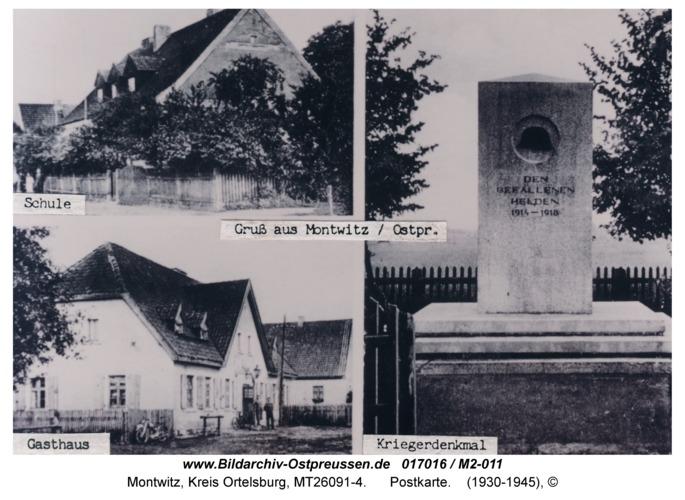 Montwitz, Postkarte