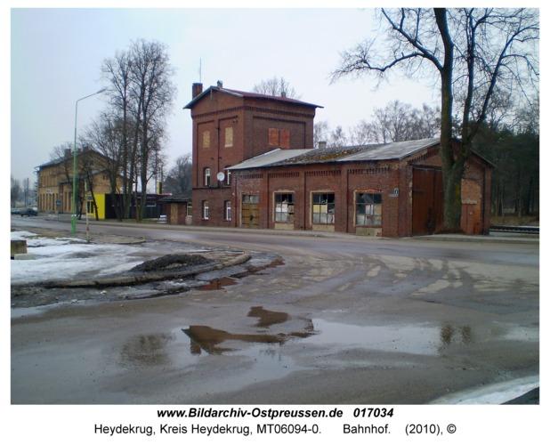 Heydekrug, Bahnhof